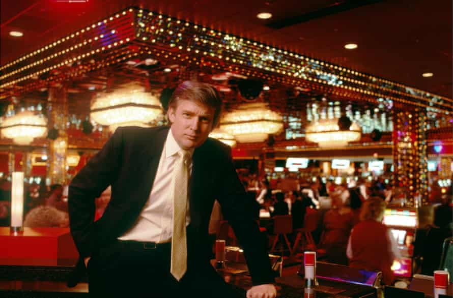 Donald Trump at the Trump Taj Mahal in 1988.