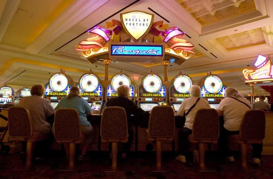 Women play slot machines at the Borgata Hotel Casino and Spa in Atlantic City.