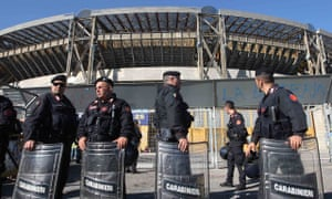 Security at Stadio San Paolo