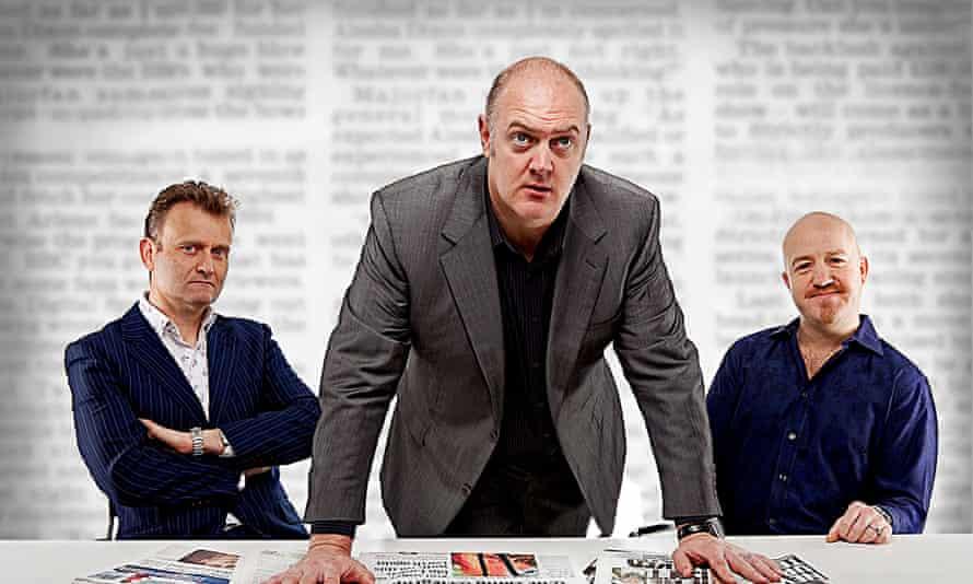 Mock The Week stars Hugh Dennis, host Dara O'Briain and Andy Parsons