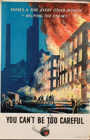 'You Can't Be Too Careful' by Norman Hepple for the National Fire Service in 1944