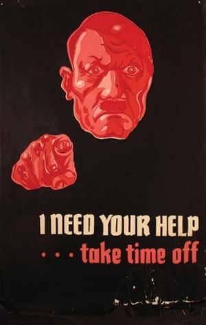 A graphic image depicting a Hitler caricature in red on black