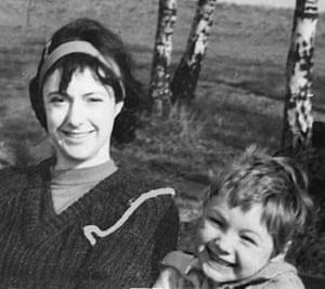 Gavan Naden and his mother.