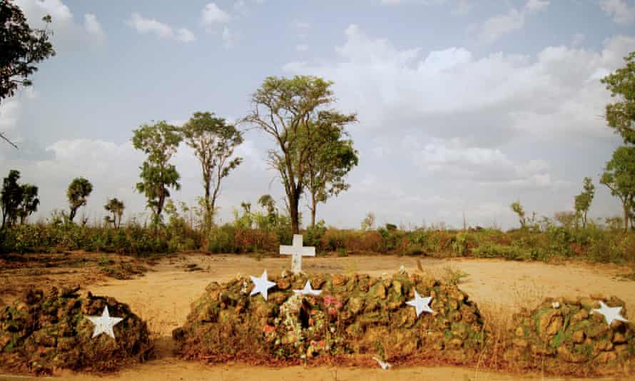 Graveyard for soldiers in Cuito Cuanavale, Angola