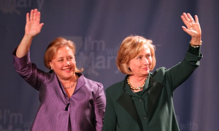 Senator Mary Landrieu and Hillary Rodham Clinton during the campaign at the Sugar Mill in New Orleans, Louisiana.