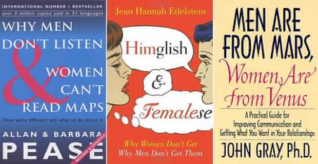 """The majority of self-help relationship manuals are marketed at women – and their """"problematic"""" behaviour."""