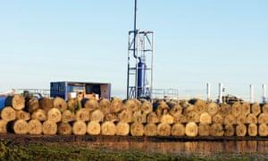 The Cuadrilla fracking test drill site near Lytham St Annes, Lancashire