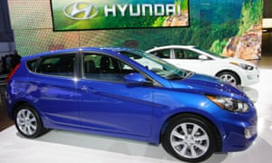 The Hyundai Accent, one of the models that the car-maker advertised as having lower emissions than was true.