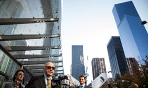 Steven Plate of the Port Authority of New York and New Jersey speaks at a press conference out front of One World Trade Center.
