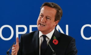David Cameron rejecting the EU's surcharge last week. The prime minister pledged not to pay the bill