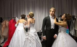 Debutantes prepare backstage