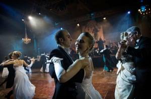 A couple dances at the debutante ball