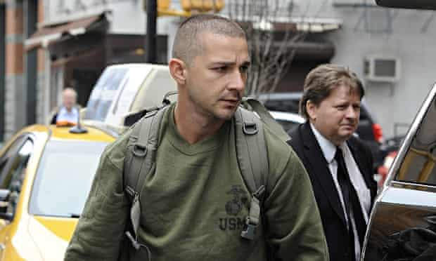 Shia LaBeouf in New York earlier this month.