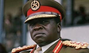 Ugandan leader Idi Amin, in military uniform