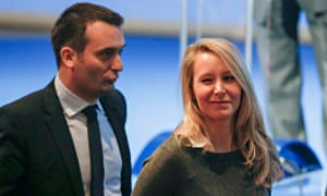 Marion Marechal-Le Pen with Florian Philippot during the Front National congress in Lyon.
