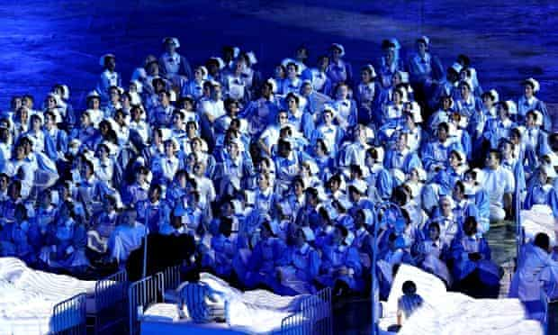 The NHS as celebrated in the 2012 Olympics opening ceremony