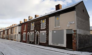 A row of empty terraced houses in Liverpool. 36% of people said empty properties blighted their loca