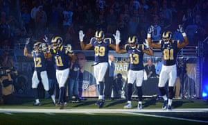 St Louis Rams Michael Brown gesture
