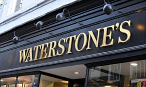 Waterstone's book shop sign England Uk