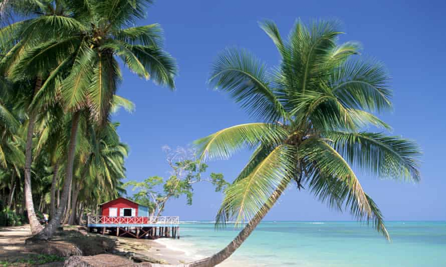 Beach hut accommodation on Punta Bonita, Dominican Republic