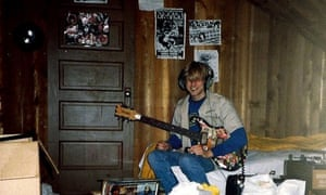 Kurt Cobain in his childhood home in Aberdeen, Washington.