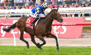 Protectionist and Ryan Moore at the Melbourne Cup