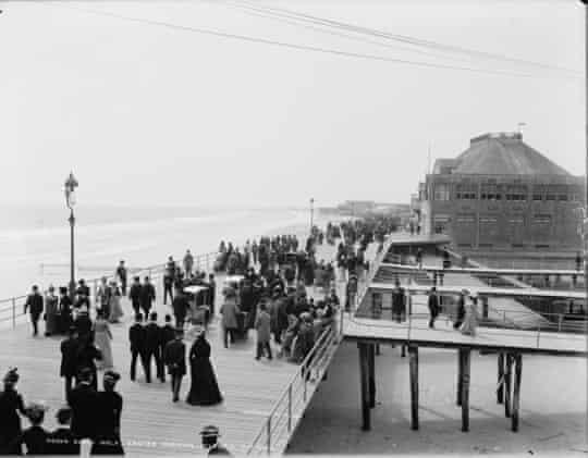 Atlantic City's boardwalk in 1900.