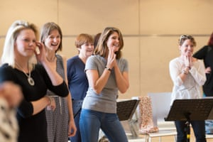 The cast in rehearsal.