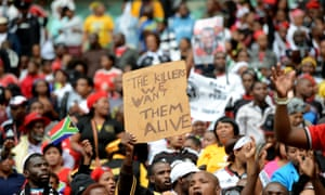 More than 20, 000 people attend the funeral of late South African football captain Senzo Meyiwa at the Moses Mabhida Stadium in Durban.