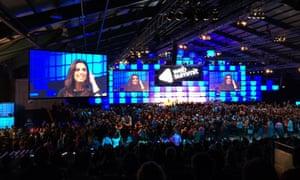 Eva Longoria drew a large (albeit 85% male) crowd at the Web Summit.