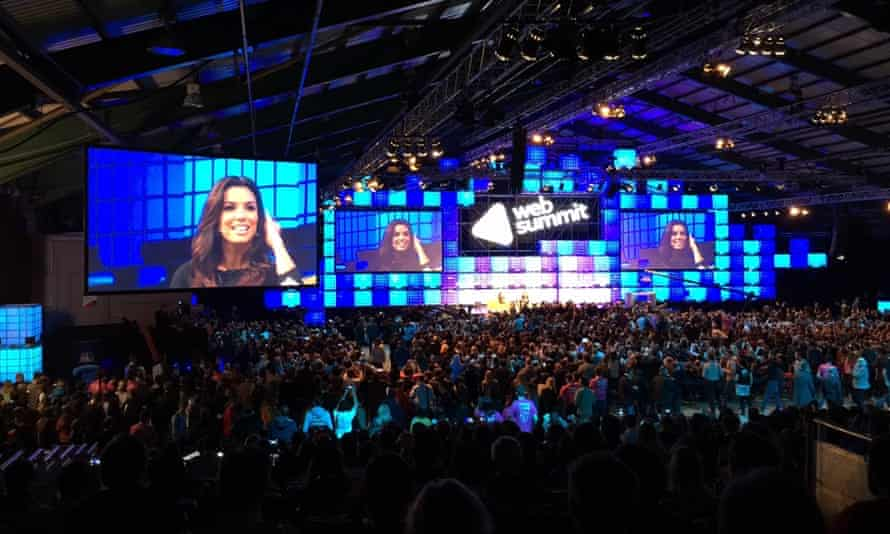 Eva Longoria drew a large (albeit 85% male) crowd at the Web Summit.