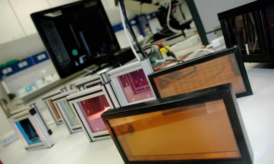Thin solar energy panels
