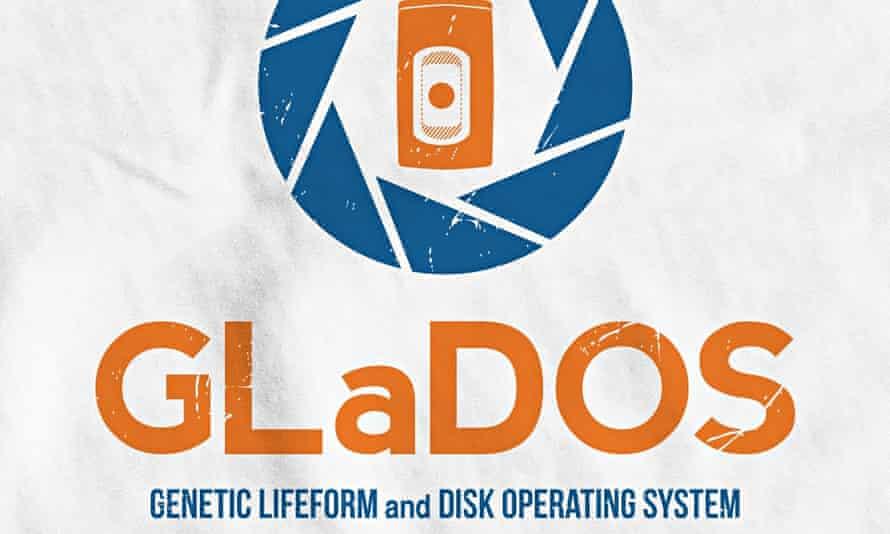 Portal-inspired GLaDOS T-shirt.