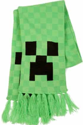 Minecraft Creeper scarf.