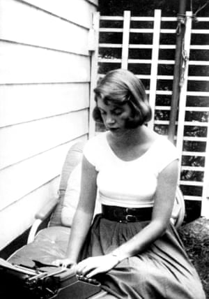 Sylvia Plath works in the open air.
