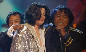 James Brown and Michael Jackson in 2003.