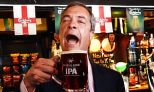 Nigel Farage has become famous for his love of ale on the campaign trail.