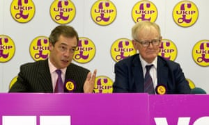 Nigel Farage with former Ukip treasurer Stuart Wheeler who has also made some sizeable donations to the party.