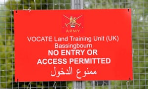 Bassingbourn barracks in Cambridgeshire. 'The main problem has been escapees and the fear that has c