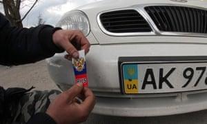 Crimea number plate change