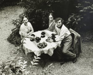 Marc Chagall and his family, 1960.