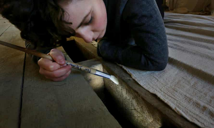 Charlotte Bossick of Museum of London Archaeology looks at the 17th-century witch marks found under floorboards at Knole.