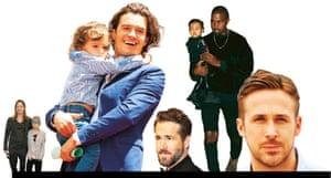 Brad Pitt, Orlando Bloom, Ryan Reynolds, Kanye West and Ryan Gosling