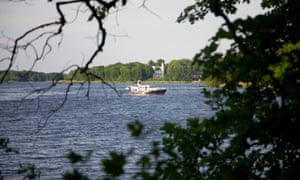 A glimpse across to the Unesco heritage Pfauninsel (Peacock Island)