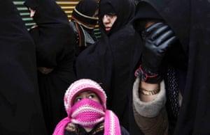 A religious procession marking Ashura in Ardebil, Iran.