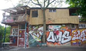 Baumhaus an der Mauer (Treehouse at the Wall), a project started in the 80s by Turkish immigrant Osman Kalin