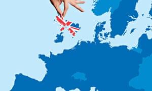 Europe map without UK