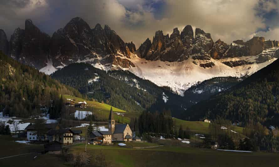 Mountains in the region of Trentino-Alto Adige, north-east Italy