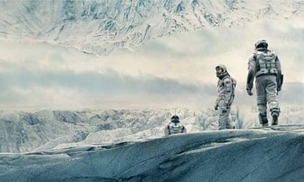 Interstellar astronauts explore new planet