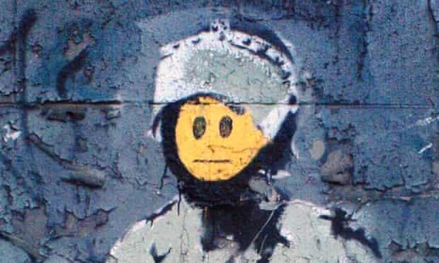 banksy smiley face